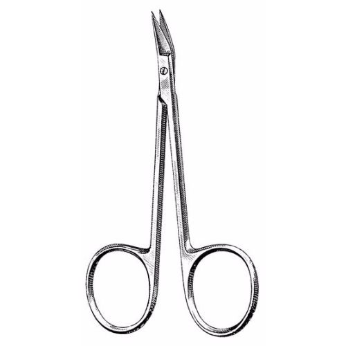 Wilmer Conjunctival Scissors 10.5 cm , Delicate, 15mm Blades, Angled On Flat | JFU Industries