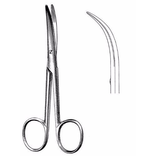 Enucleation Scissors 13.0 cm , 32mm Blades, Strong Curve | JFU Industries