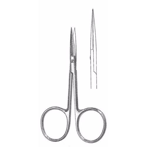 Iris Scissors 10.2 cm , 24mm Blades, Large Finger Rings, Straight | JFU Industries