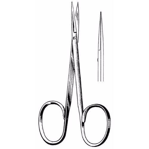 Iris Scissors 10.2 cm , 22mm Blades, Flat Shanks, Straight | JFU Industries