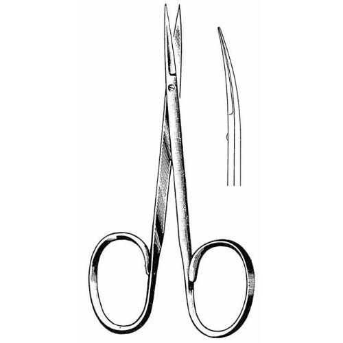 Iris Scissors 10.2 cm , 22mm Blades, Flat Shanks, Curved | JFU Industries