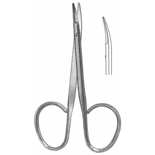 Utility Scissors 10.5 cm , 15mm Blades, Flat Shanks, Curved | JFU Industries