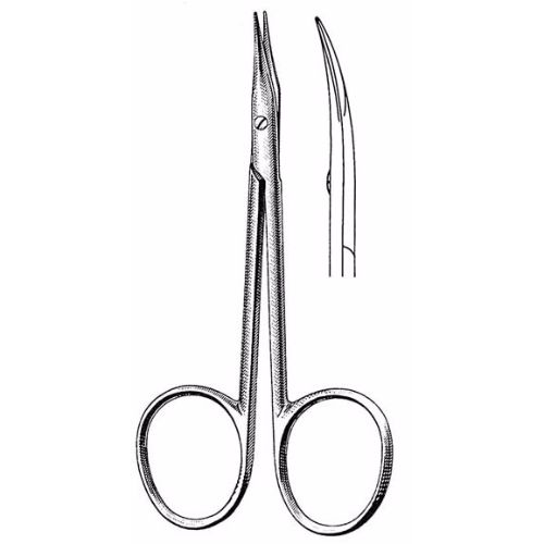 Stevens Stitch Scissors 10.5 cm , 14mm Blades, Curved, Sharp Tips | JFU Industries