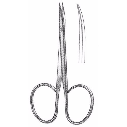Stevens Stitch Scissors 9.5 cm , 12mm Blades, Curved Sharp Tips, Flat Shanks | JFU Industries